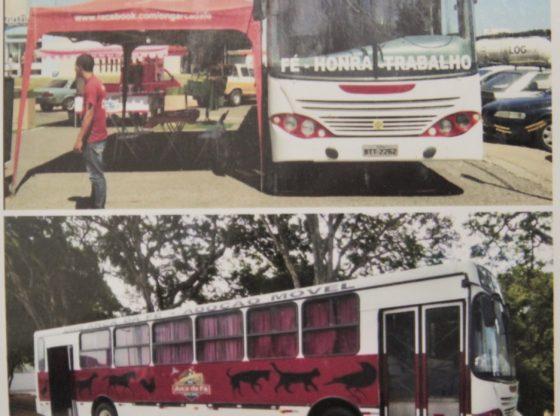 Ônibus utilizado nas feiras de adoção (Foto: Acervo)