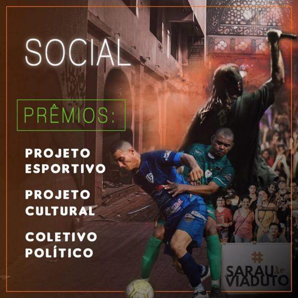 Na categoria Social, foram 19 indicados (Arte: Bruna Nakandakare/Jornal Dois)